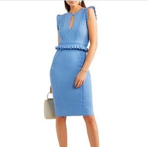NWOT Rebecca Vallance majorca pointelle-knit dress